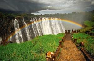 Rainbow-over-Victoria-waterfall
