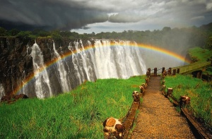 Rainbow-over-Victoria-waterfall