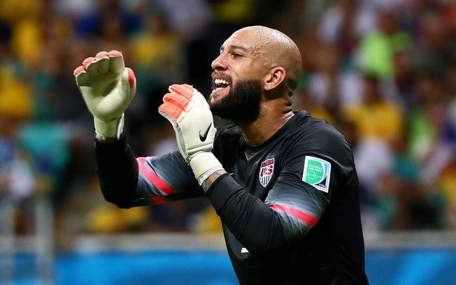O goleiro americano Tim Howard registrou contra a Bélgica o recorde de defesas em uma mesma partida de Copa do Mundo  (Foto: Getty)